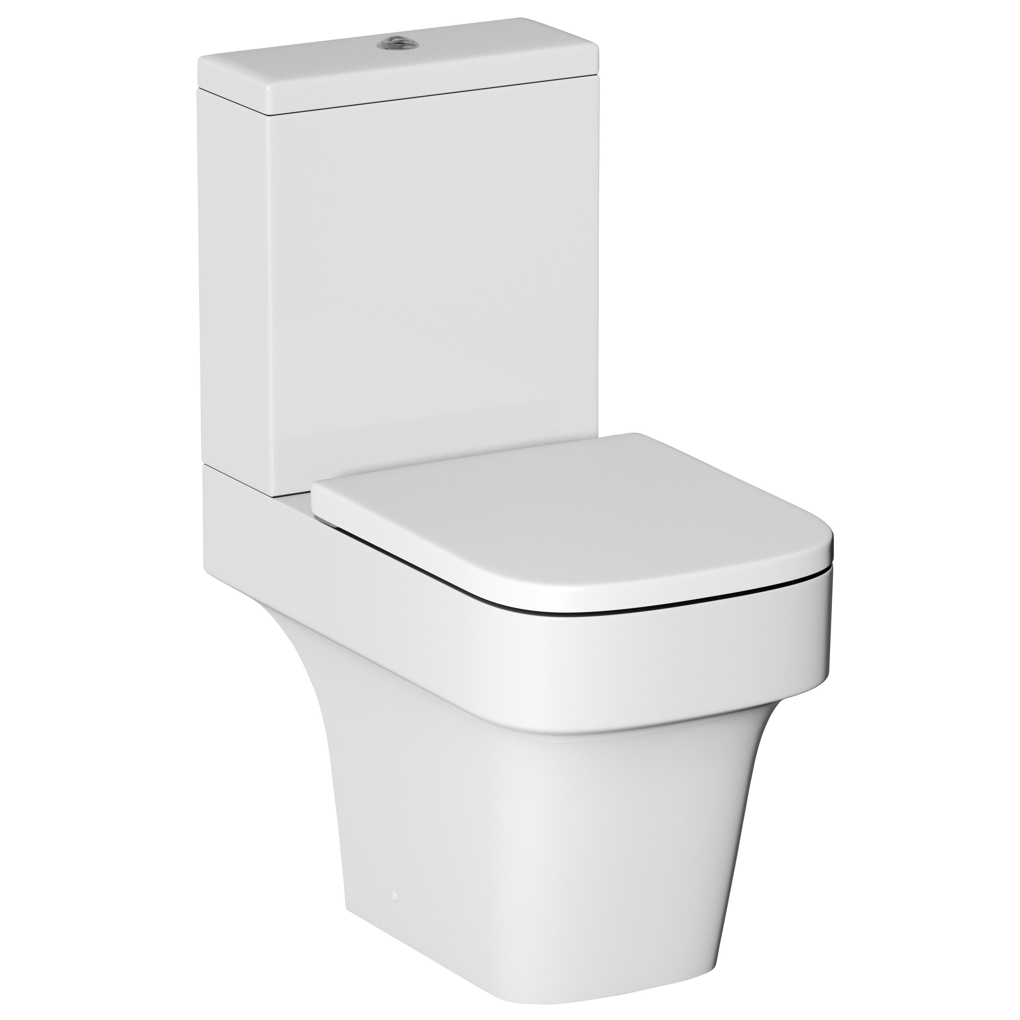 Cooke Lewis Caldaro Contemporary Close Coupled Toilet With Soft Close Seat Departments Tradepoint
