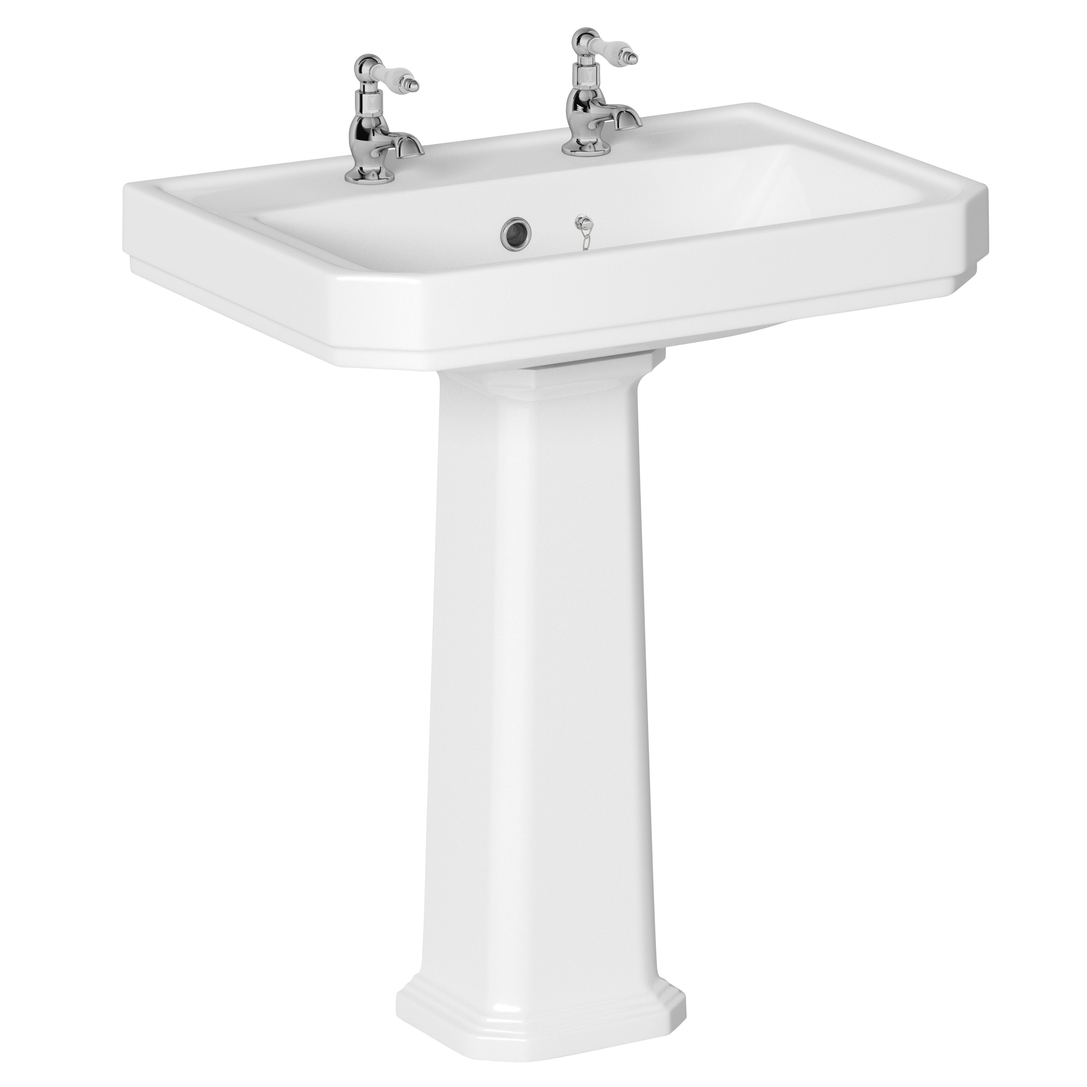 amazon retrospect com inch small with top standard console spacing american sink dp pedestal white faucet
