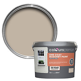 Colours Premium Sandstone beige Smooth Masonry paint 5L