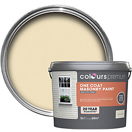 Colours Premium Devon cream Smooth Masonry paint 5L