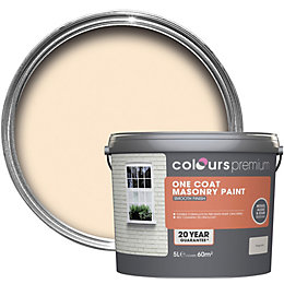 Colours Premium Magnolia Smooth Matt Masonry Paint 5L