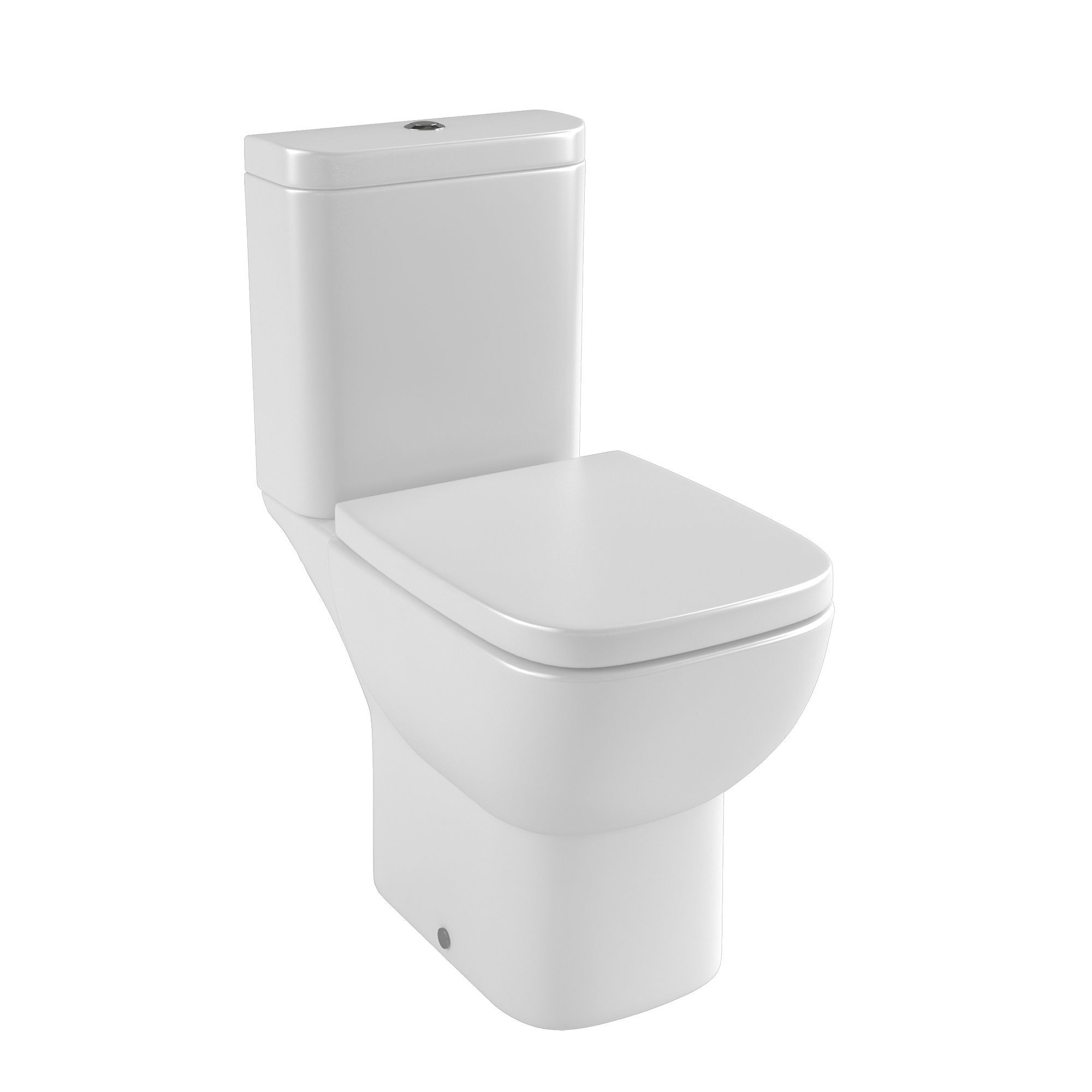 Cooke Lewis Santoro Contemporary Close Coupled Toilet With Soft Close Seat Departments Diy At B Q