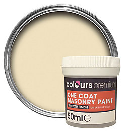 Colours Premium Devon cream Smooth Masonry paint 0.05L
