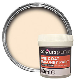 Colours Premium Magnolia Smooth Matt Masonry Paint 0.05L