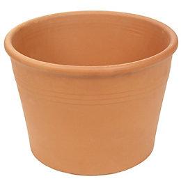 Cylinder Terracotta Pot (H)230mm (Dia)330mm