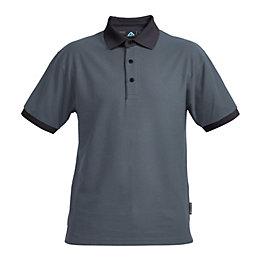 Rigour Black & grey Polo shirt Medium