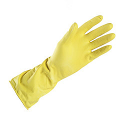 B&Q One Size Household Rubber Gloves, Pack of