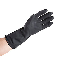 B&Q Medium Heavy Duty Rubber Gloves Of 1