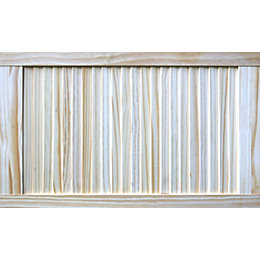 Pine Unglazed Internal Louvre Door, (H)762mm (W)457mm