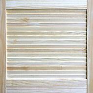 Pine Internal Louvre Door, (H)762mm (W)533mm