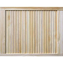 Pine Unglazed Internal Louvre Door, (H)762mm (W)610mm