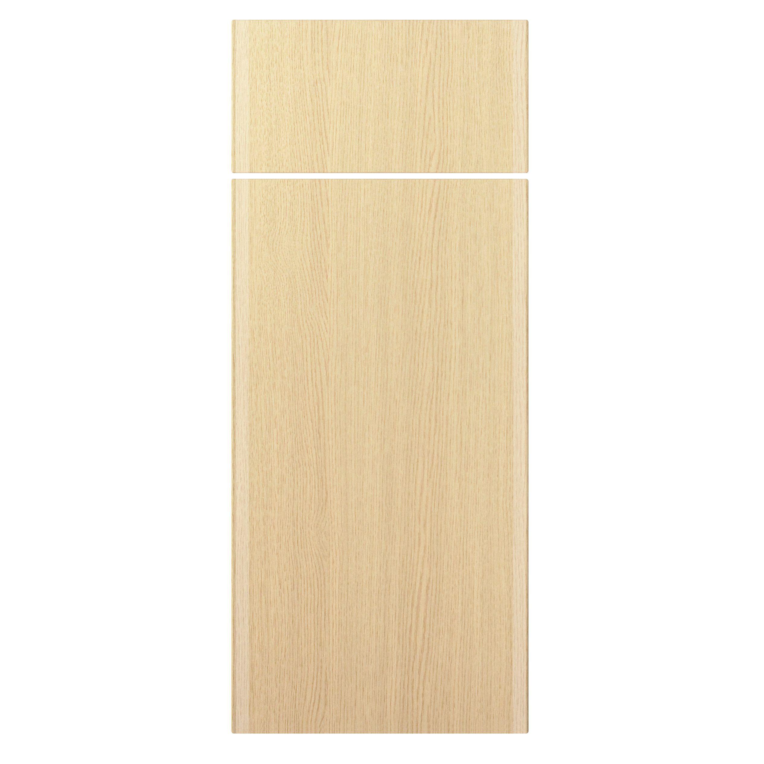 Textured Oak Effect Slab Kitchen Doors