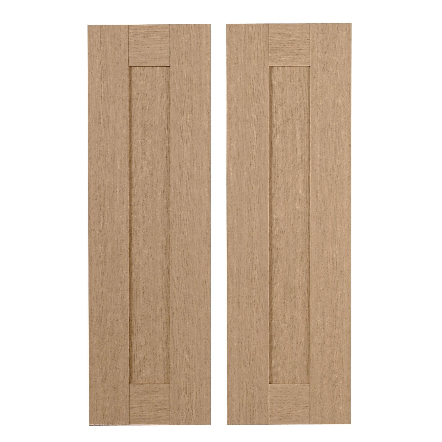 IT Kitchens Westleigh Textured Oak Effect Shaker Larder door (W)300mm Set of 2 | Departments | DIY at B\u0026Q  sc 1 st  B\u0026Q & IT Kitchens Westleigh Textured Oak Effect Shaker Larder door (W ...