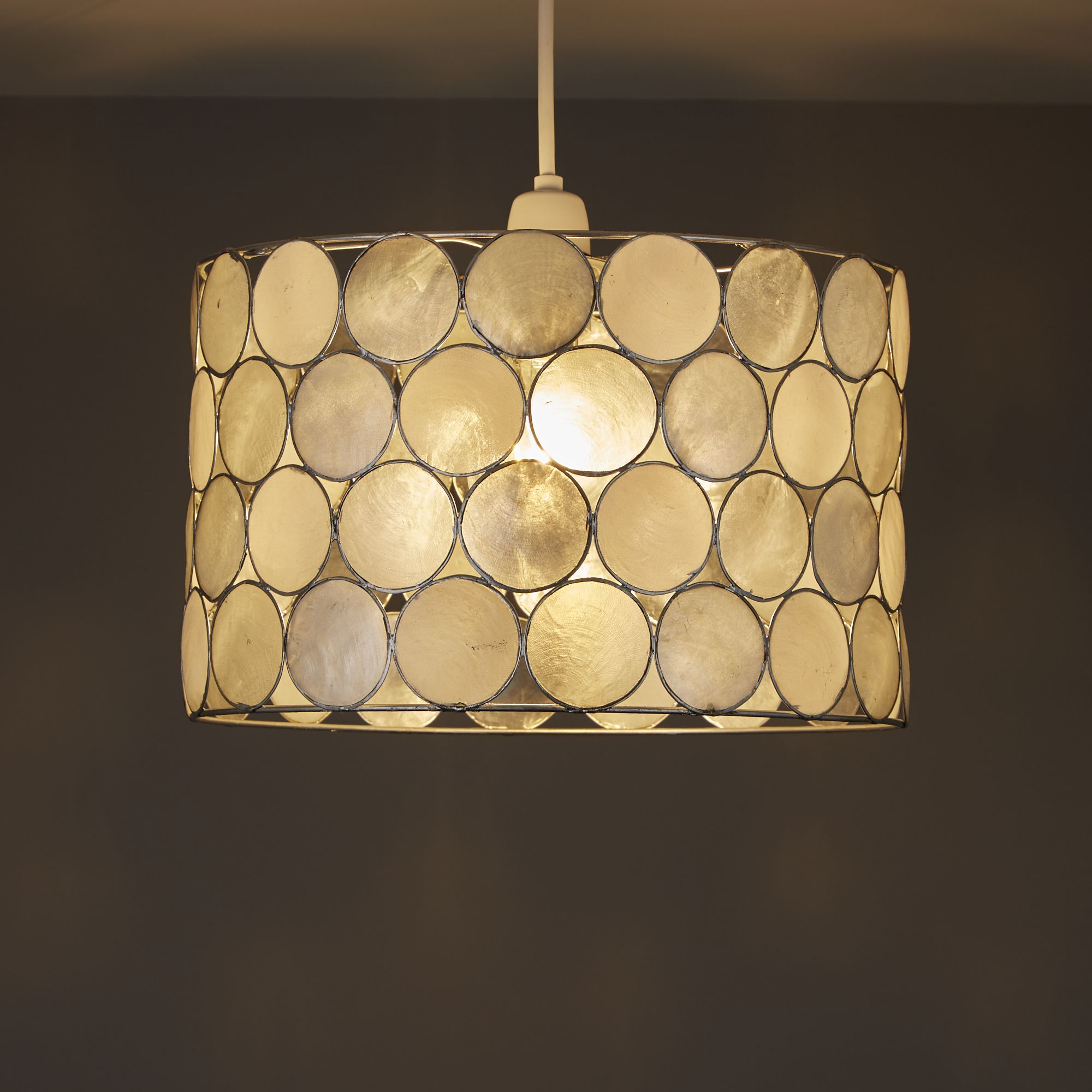 Colours Gilort Natural Circles Lamp Shade (D)290mm
