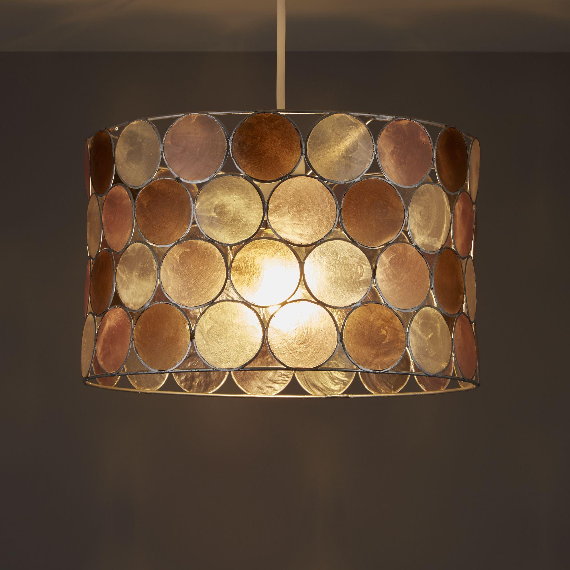 Colours Gilort Pink & Natural Circles Lamp Shade