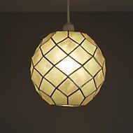 Colours Maringa Duck egg Diamond Lamp shade (D)225mm