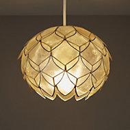 Colours Elvira Natural Artichoke Lamp shade (D)200mm