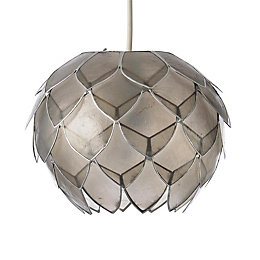 Colours Elvira Capiz Grey Artichoke Lamp Shade (D)200mm