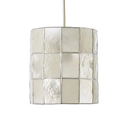 Colours Cabriole Natural Cylinder Lamp Shade (D)160mm