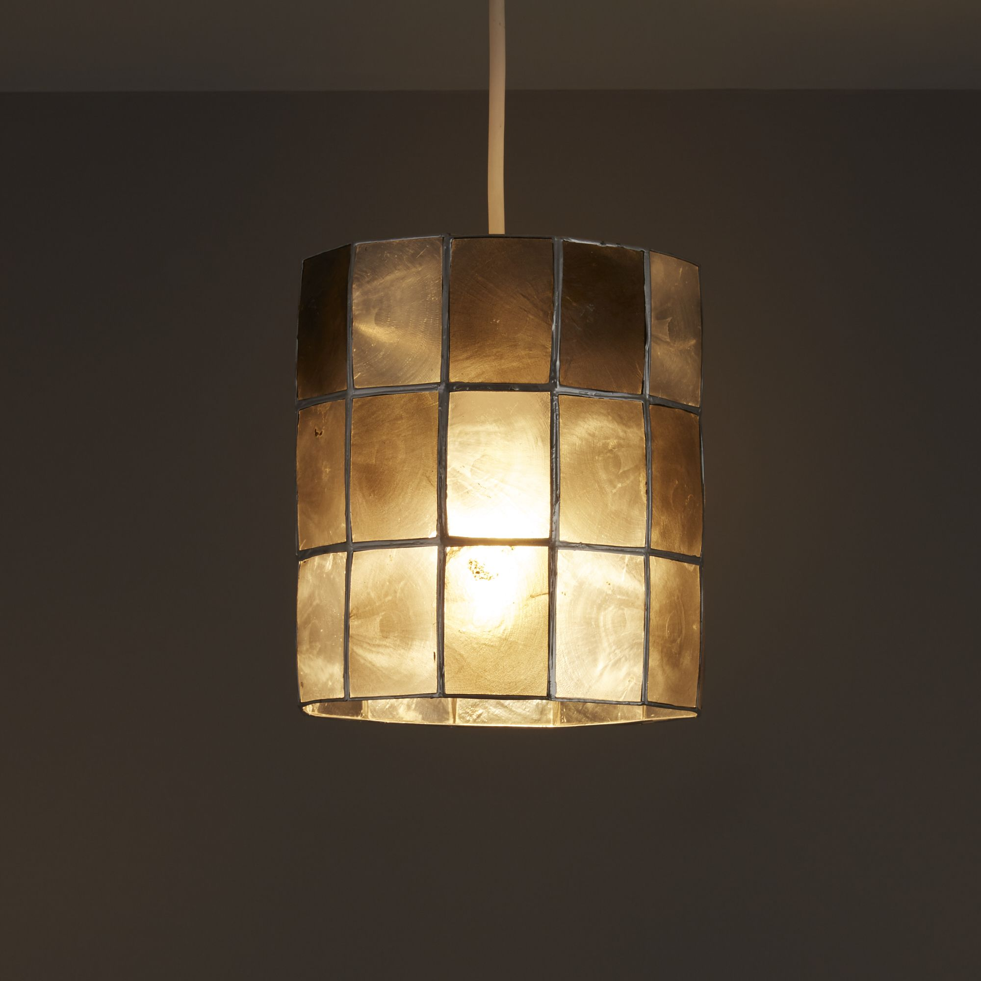 Colours Cabriole Grey Cylinder Lamp Shade (D)160mm