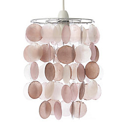 Colours Hamun Pink 2 Tier Pendant Light Shade