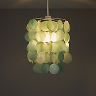 Colours Hamun Duck egg 2 tier Pendant light shade (D)180mm