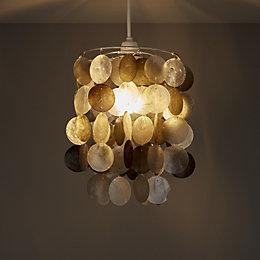 Colours Hamun Grey 2 Tier Pendant Light Shade