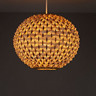 Colours Bolsena Beige Hedgehog Lamp shade (D)300mm