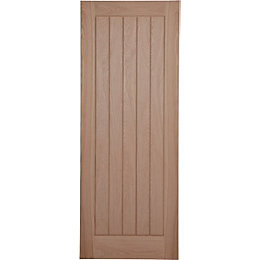 Cottage Panel Prefinished Oak Unglazed Internal Standard Door,