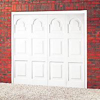 Michigan Framed Retractable Garage door, (H)2134mm (W)2438mm