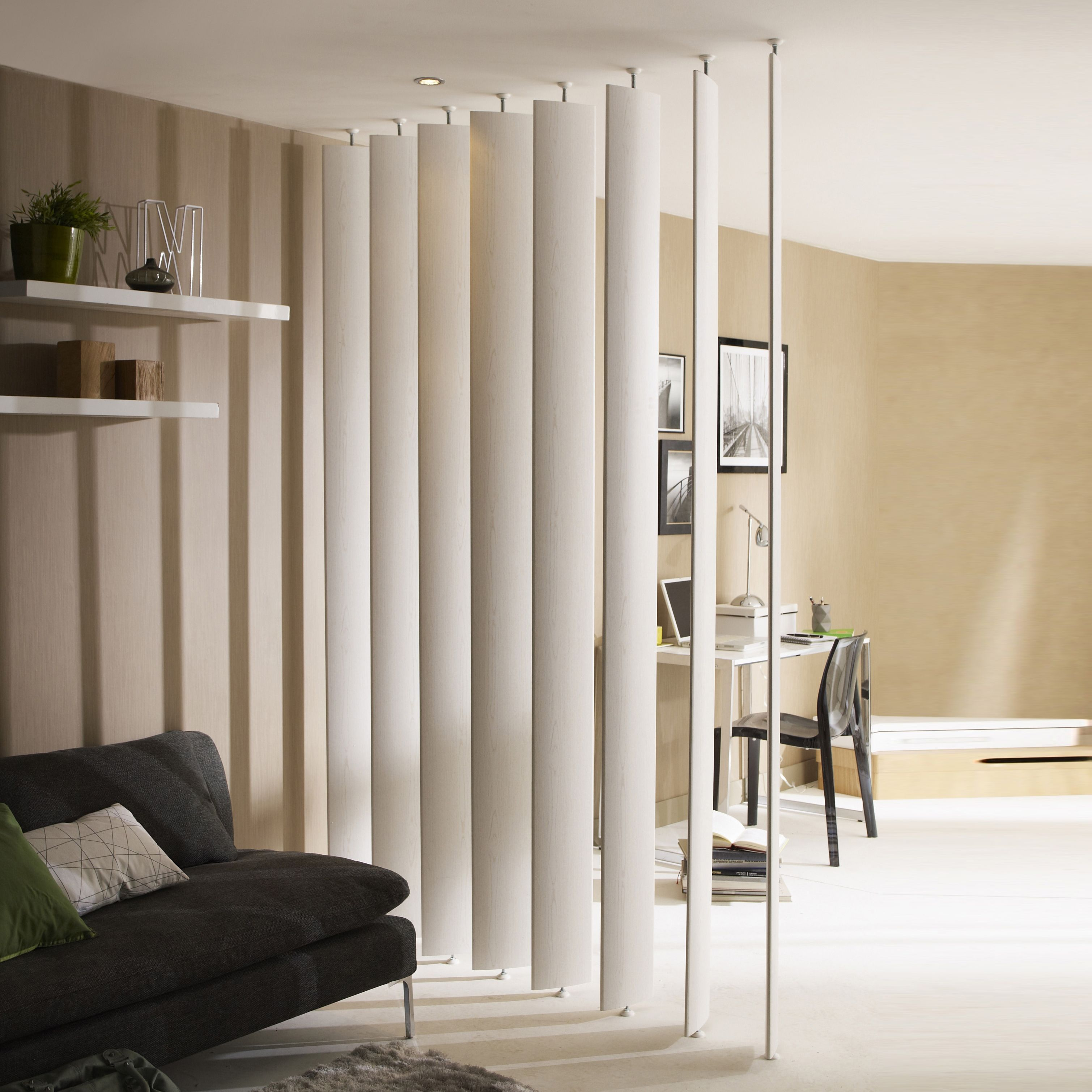Room Dividers: Ella White Room Divider Single Blade