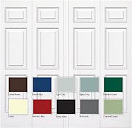 Manhattan Framed Retractable Garage door, (H)2134mm (W)2438mm