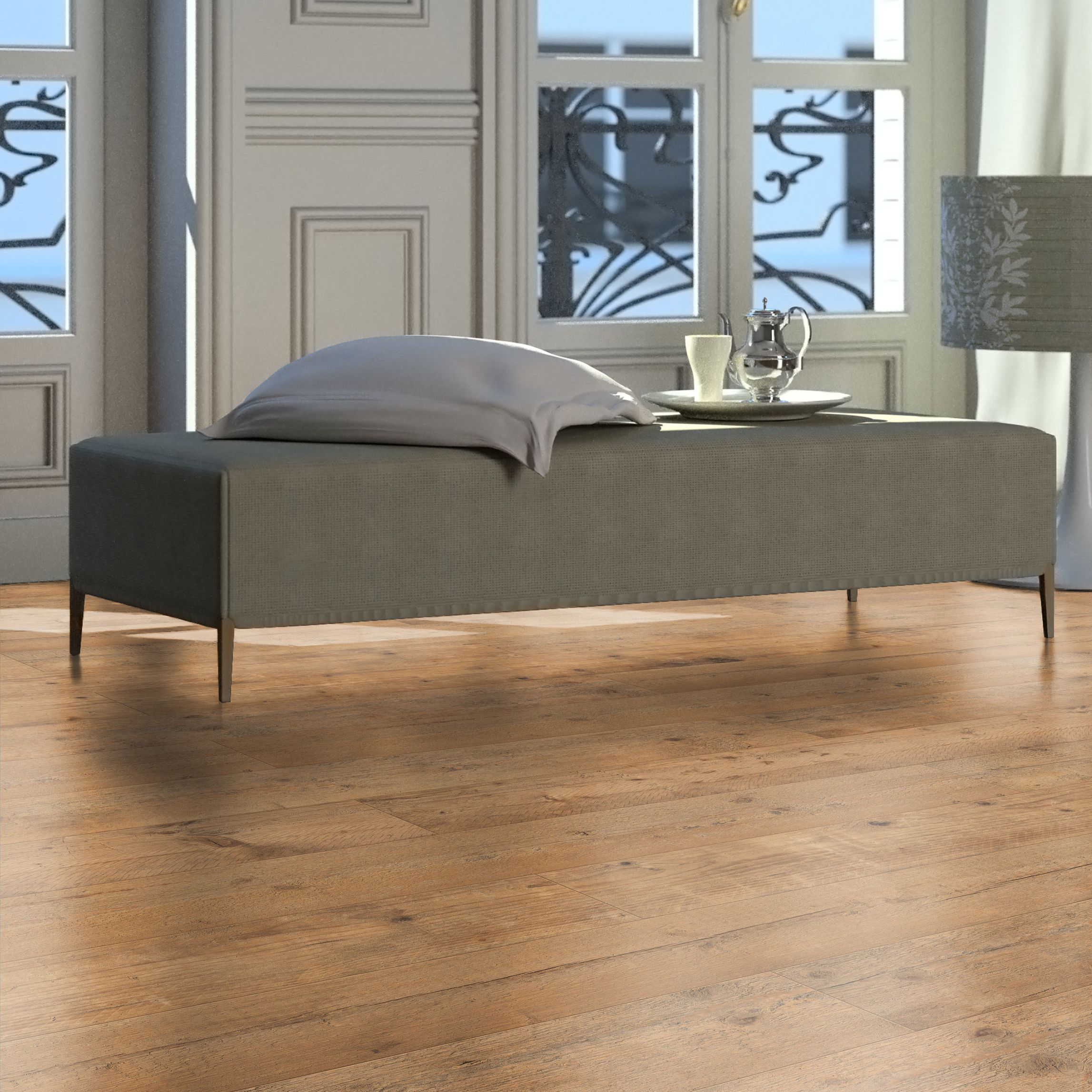 Sicily Oak Effect Laminate Flooring 1 99 M² Pack Departments Diy At B Q