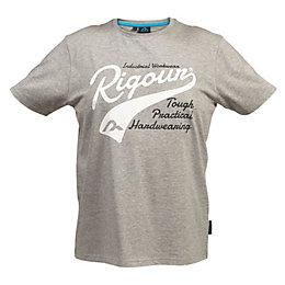 Rigour Grey Marl T-Shirt Medium