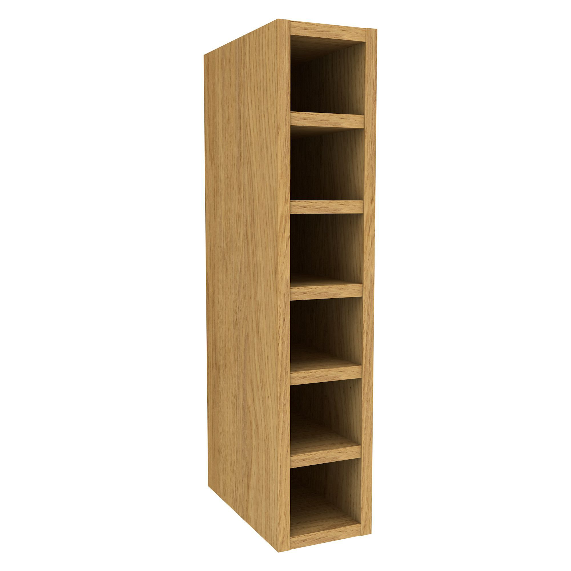 Oak Effect Kitchen Cabinets: Cooke & Lewis Oak Effect Wine Rack Wall Cabinet (W)150mm