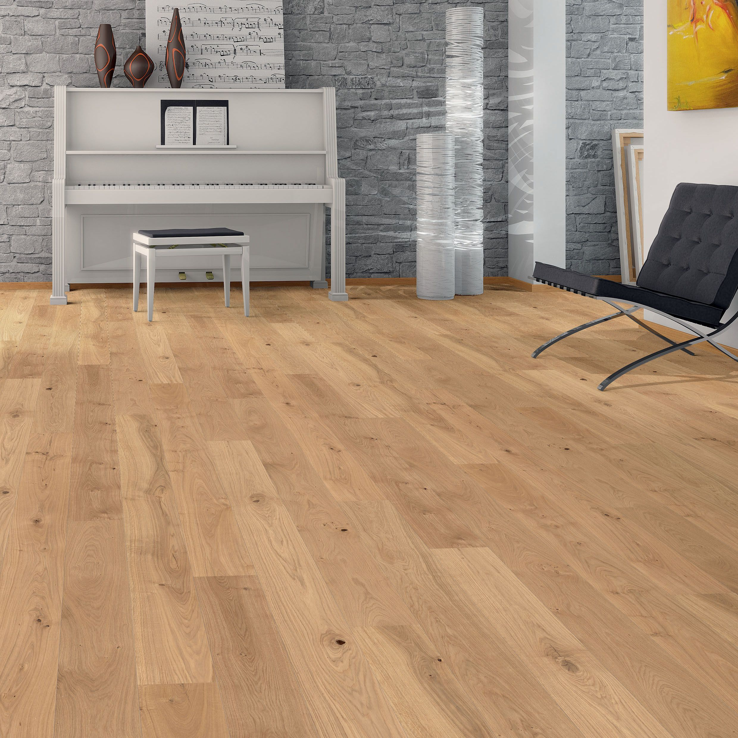 Colours Monito Natural Oak Effect Wood Top Layer