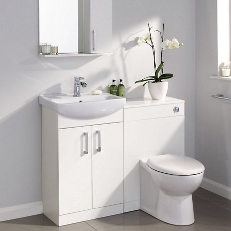 Freestanding White Bathroom Furniture Uk