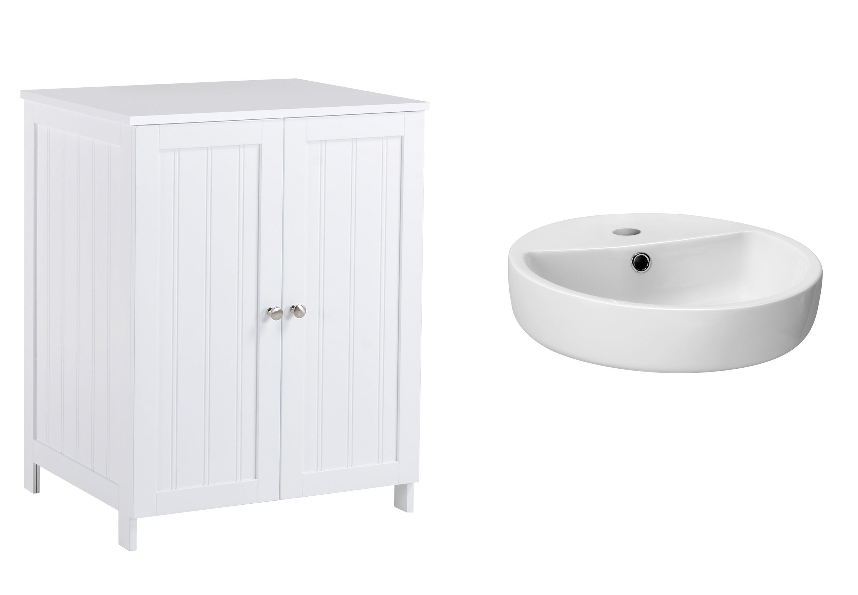Nicolina White Vanity unit & basin set | Departments | DIY at B&Q