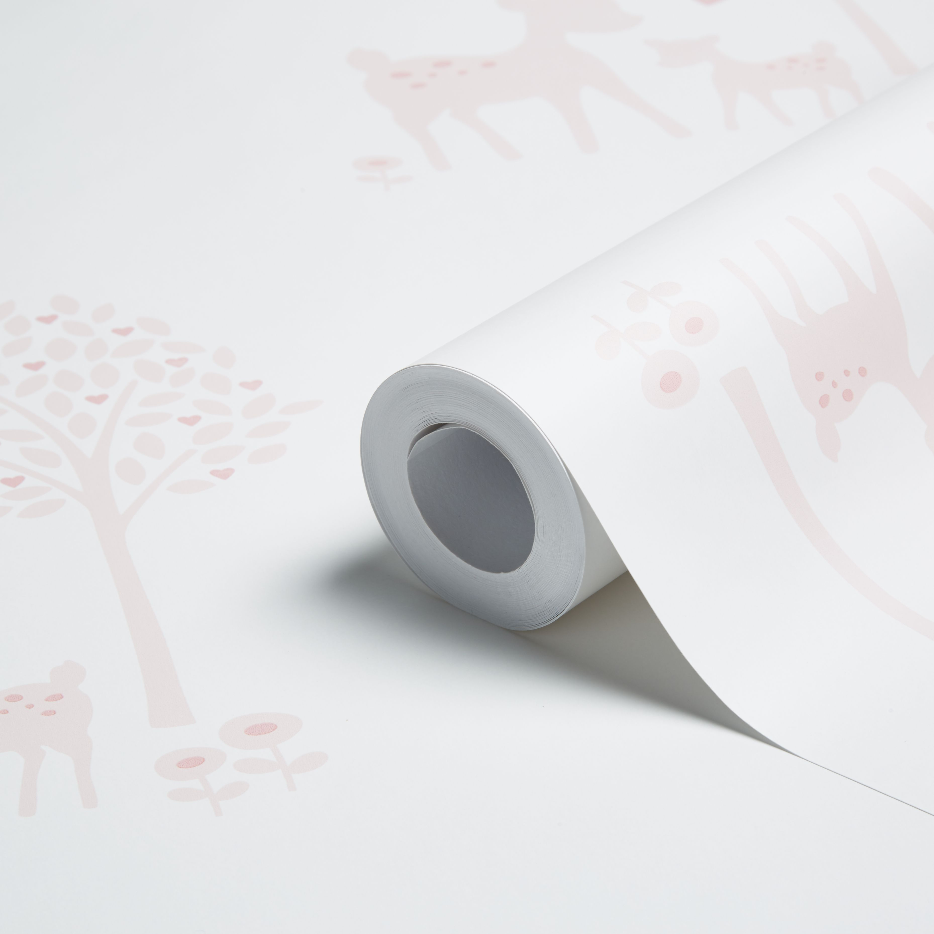 baby colours little deer pink wallpaper | departments | diy at b&q