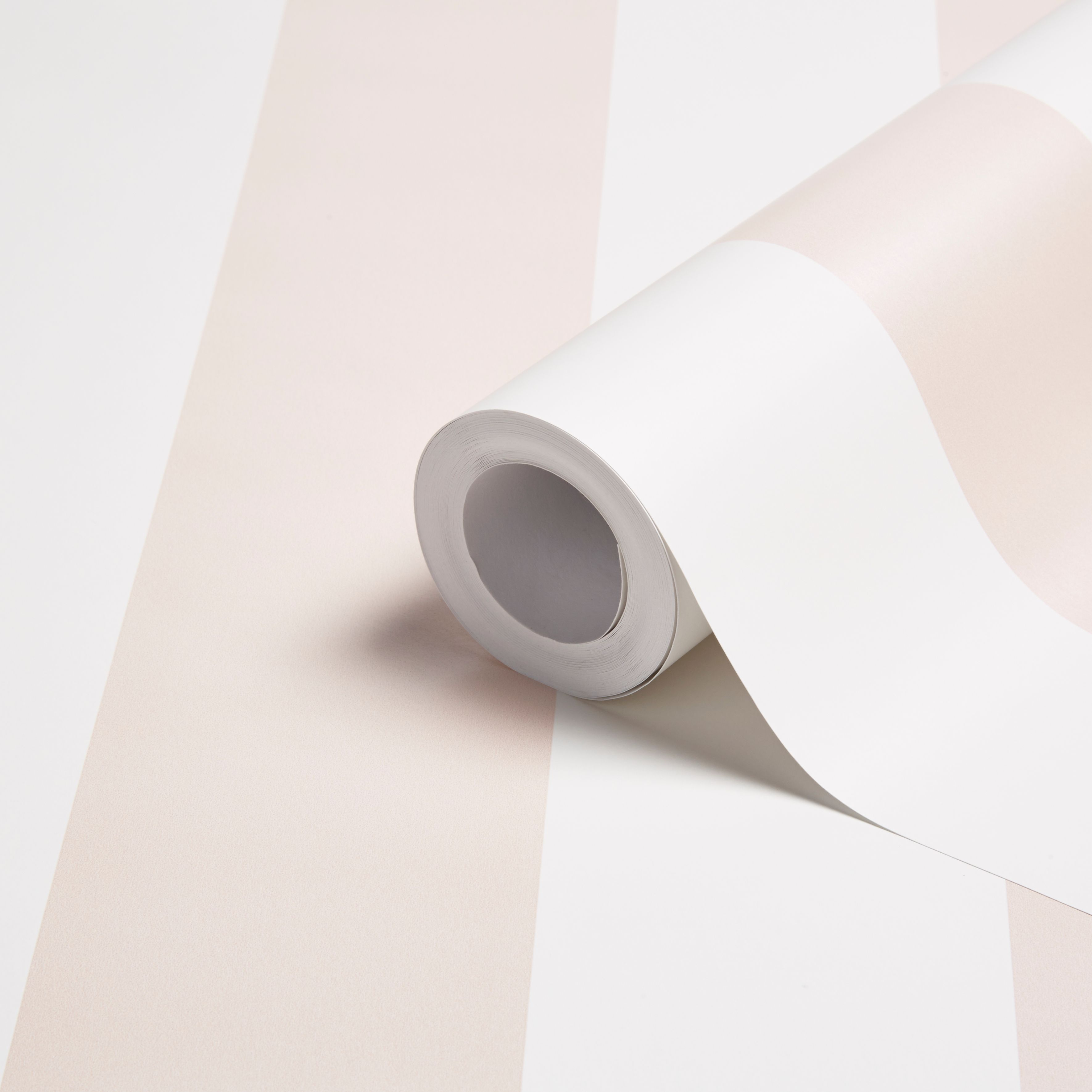 Baby Colours Little Candy Pink Striped Mica Effect Wallpaper