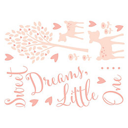 Baby Colours Little Deer Pink Wall Sticker