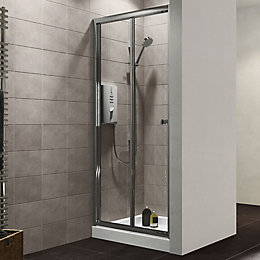 Plumbsure Shower door with Bi-fold door (W)800mm