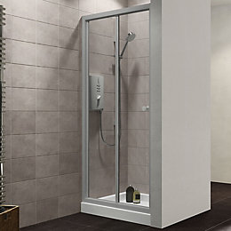Plumbsure Shower door with Bi-fold door (W)760mm