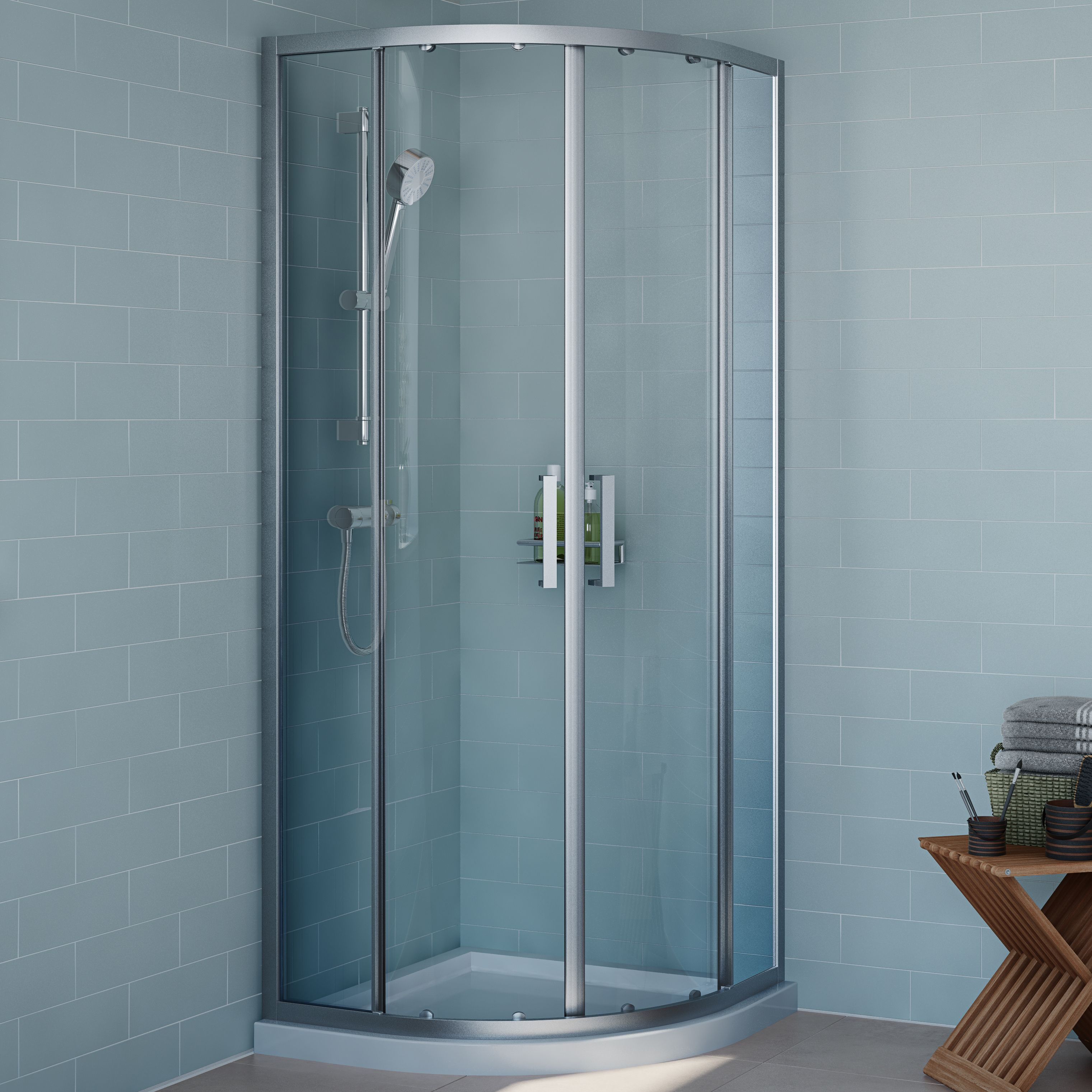 Cooke & Lewis Exuberance Quadrant Shower enclosure with Double ...