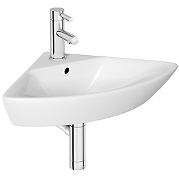 Cooke & Lewis Lanzo Triangle Corner cloakroom basin