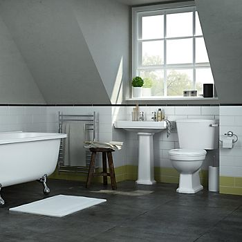 Traditional bathroom with Serine suite