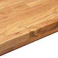 38mm Colmar oak Wood effect Round edge Laminate Worktop (L)3m (D)600mm