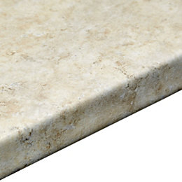 38mm Natural Stone Laminate Marble Effect Round Edge