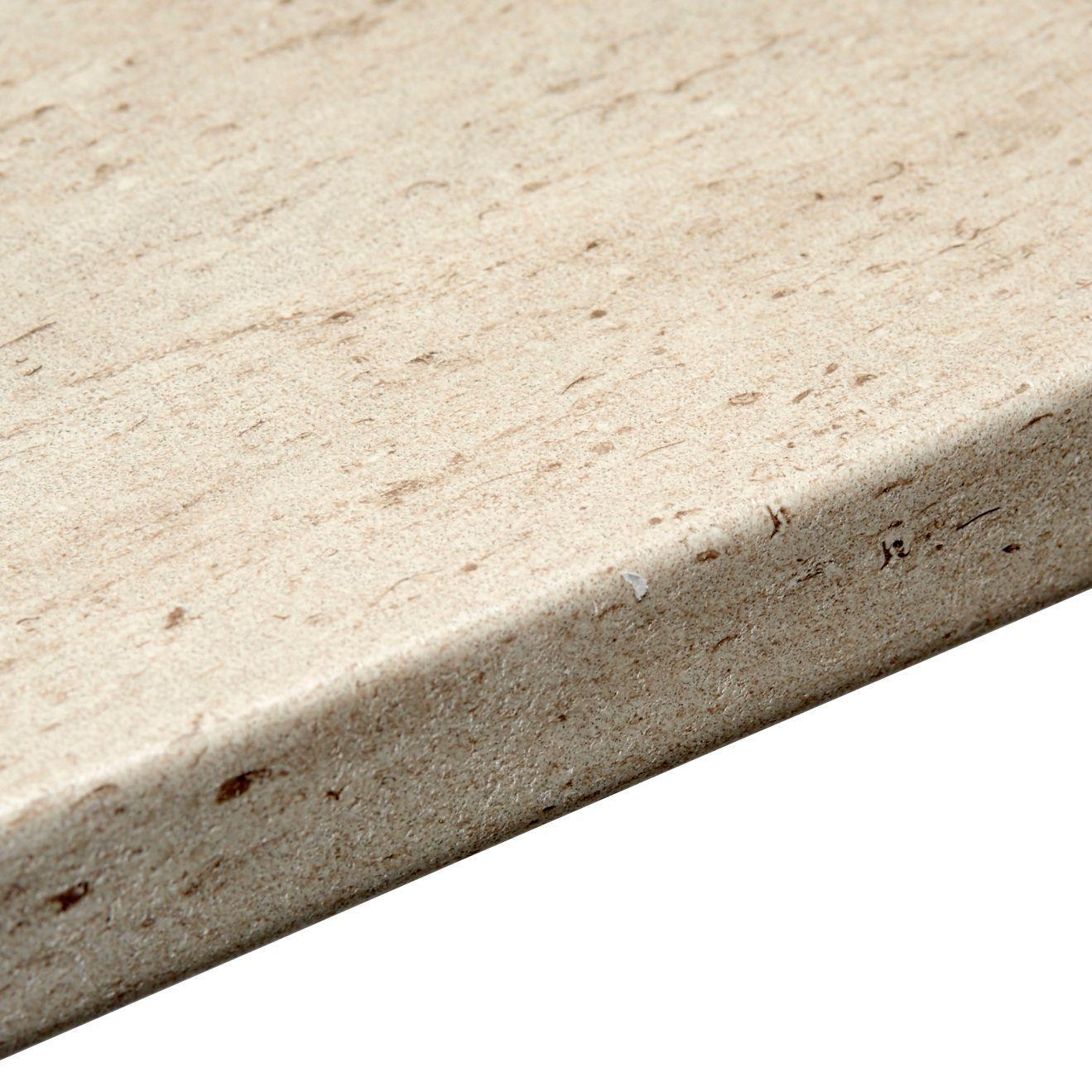 38mm B&Q Trieste Stone Post Formed 6mm Kitchen Breakfast Bar (L)2m ...