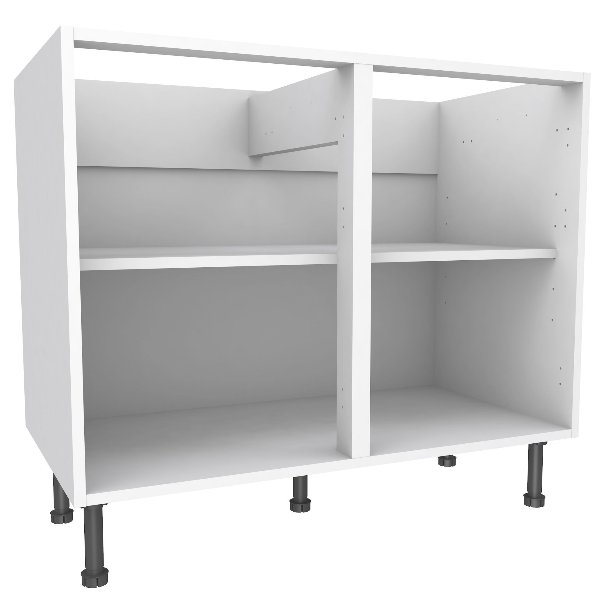 Awesome Cooke U0026 Lewis White Standard Base Cabinet (W)1000mm | Departments | DIY At  Bu0026Q